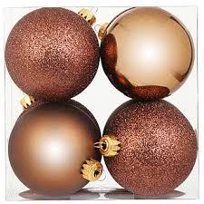 ct 75mm shatterproof box copper ornaments