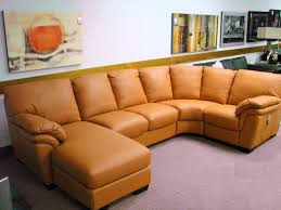 orange leather sectional sofa natuzzi leather sofas sectionals by interior concepts furniture