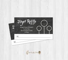 harry potter baby shower diaper raffle ticket shower games