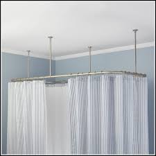 polished nickel curved shower curtain rod curtains home design