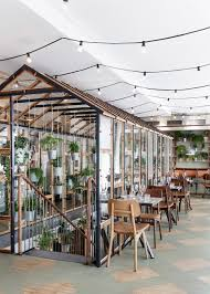 Indoor Garden Design by Design Studio Creates An Indoor Garden For A Restaurant