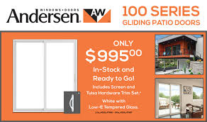 Andersen Gliding Patio Doors Andersen 100 Series Gliding Patio Doors Sale More Than Lumber