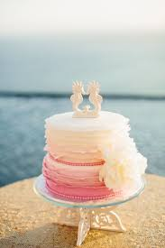 wedding cake beach toppers beach wedding starfish cake topper by
