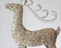 Gold Christmas Reindeer Decorations by Golden Antler Etsy