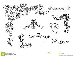 swirl ornaments stock illustration image of nature border 25228569