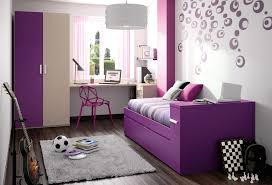 Purple Bedroom Ideas by Black Wooden Bed On Cream Rug And Black Table Lamp On Black Wooden