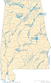 Alabama lakes images Map of alabama lakes streams and rivers gif