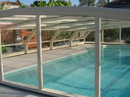 Swimming Pool Canopy by Pictures Of A 7 Angle Arcadia Aqua Retractable Swimming Pool