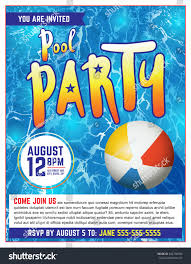 pool party invitation template vector eps stock vector 464758094