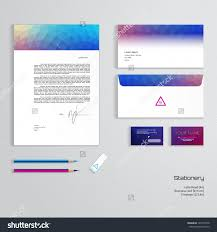 Business Card And Letterhead Design Template Vector Identity Templates Multicolored Geometric Pattern Stock