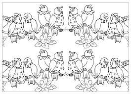 bird family animal coloring pages for kids to print u0026 color