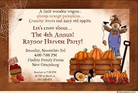 farm harvest invitation wagon pumpkins fall apples