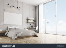 interior concrete walls bedroom interior concrete walls wooden floor stock illustration