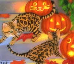 fall pictures with pumpkins for desktop cats animals paintings paint autumn four pumpkins kittens fall