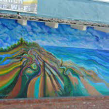 the murals of encinitas a spotlight on local public art the mural by michael richard rosenblatt 2013 mural can be found on the north wall of a little moore coffee shop leucadia photo by yeshe salz