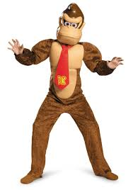 Mario Halloween Costumes Girls Child Deluxe Donkey Kong Costume