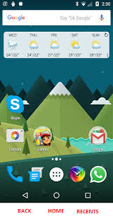 square android what does a triangle circle and square in android lollipop
