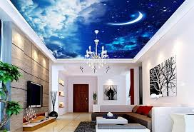 wallpaper 3d for house wallpaper 3d mural ceiling home decoration star moon cloud ceiling