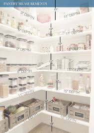 walk in kitchen pantry ideas all white pantry design with measurments to help you diy your