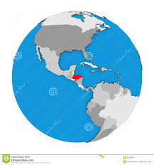 Honduras On World Map by Honduras On Globe Stock Illustration Image 83799832