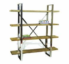 Reclaimed Wood Bookshelf Brown Gavin Reclaimed Wood Bookcase