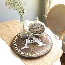 Dining Room Table With Lazy Susan by New Customized Wood Lazy Susan Turntable Trays Perfect For