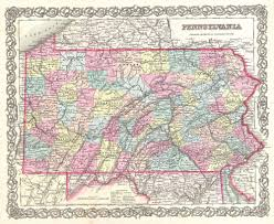 Pennsylvania Map With Cities And Towns by File 1855 Colton Map Of Pennsylvania Geographicus Pennsylvania