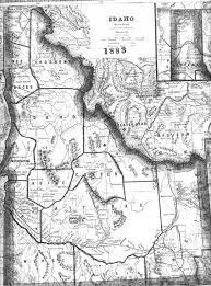 Map Of Idaho And Montana by Lemhi County Genweb Maps