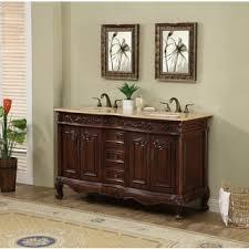 Essex 60 Vanity Cherry Finish Bathroom Vanities U0026 Vanity Cabinets Shop The Best