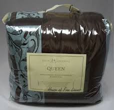 24 Piece Comforter Set Queen Hallmart Rosenthal 24 Piece Queen Comforter Set Blue Brown