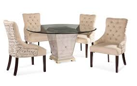 round dining room table with leaf borghese round dining set with script chairs antique mirror