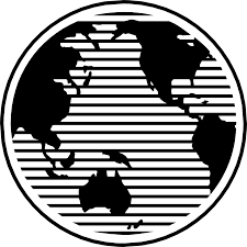 Map Of The World Black And White by Maps World Free Stock Photo Illustration Of A Globe And Map Of