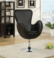 Leather Rolling Chair Red Swivel Chairs Foter
