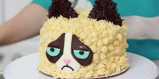 even grumpy cat would approve of this handsome cake huffpost