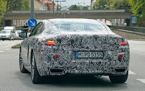 bmw 8 series coupe spied again this time with production lights