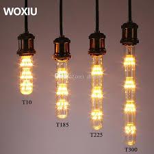 Led Bulbs For Chandelier Woxiu T10 T185 T300 Tubular Edison Led Filament Bulb Glass