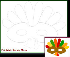 free printable turkey mask template mama zone