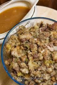 roast turkey and gravy and the kitchen