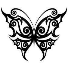 tattoos black butterfly designs polyvore