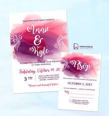 wedding invitation templates download free pdf download for diy wedding invitations watercolor splash