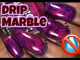 no water marble hack drip marble nail art diy youtube nail