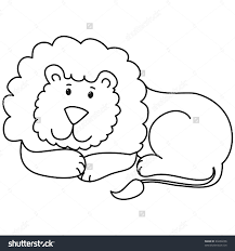 lion lying down clipart clipartxtras