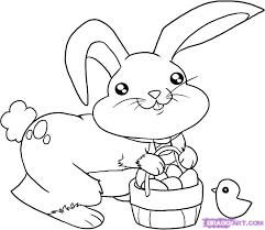 how to draw the easter bunny step by step easter seasonal free
