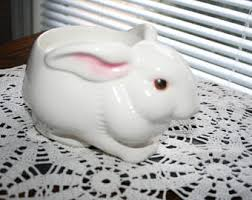 porcelain rabbit ring holder images Rabbit candle holder etsy jpg