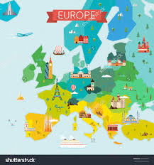 Flat Map Of World by World Map Of Europe Roundtripticket Me