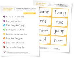 sight word sentences and bingo for early reading practice