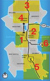 seattle map by district seattle recreational dispensary near me