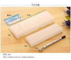 Dstockage Papeterie Creative Japonais Minimaliste Translucide Givré Crayon Cas