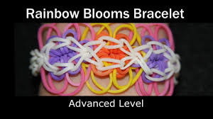 rainbow loom rainbow blooms bracelet youtube