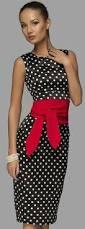elegant polka dot dress with belt fashion inspiration